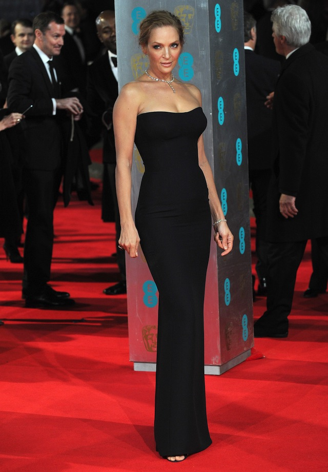 Tall Celebrity Style Crush: Uma Thurman 2014 BAFTA Awards